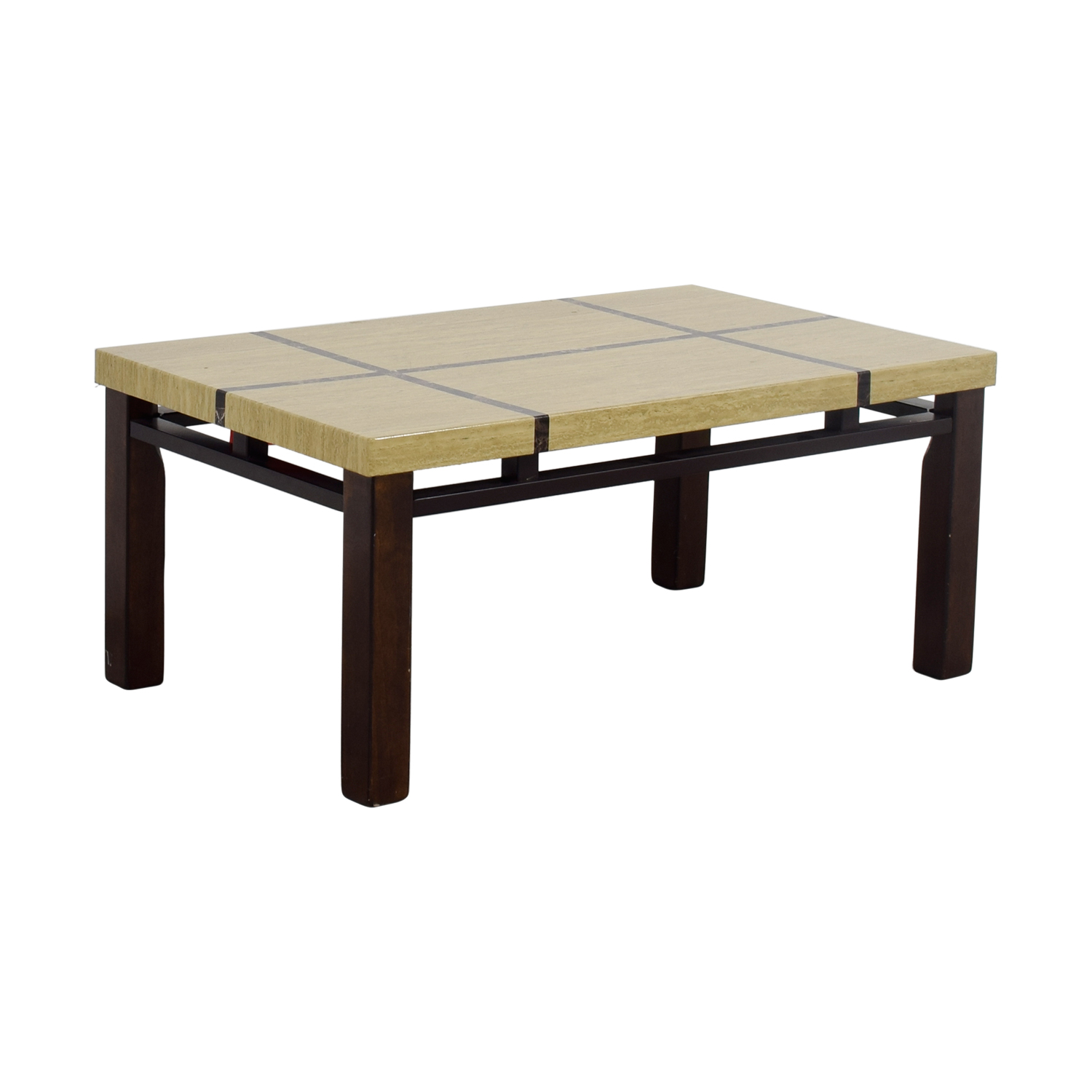 Natural and Dark Wood Coffee Table dimensions