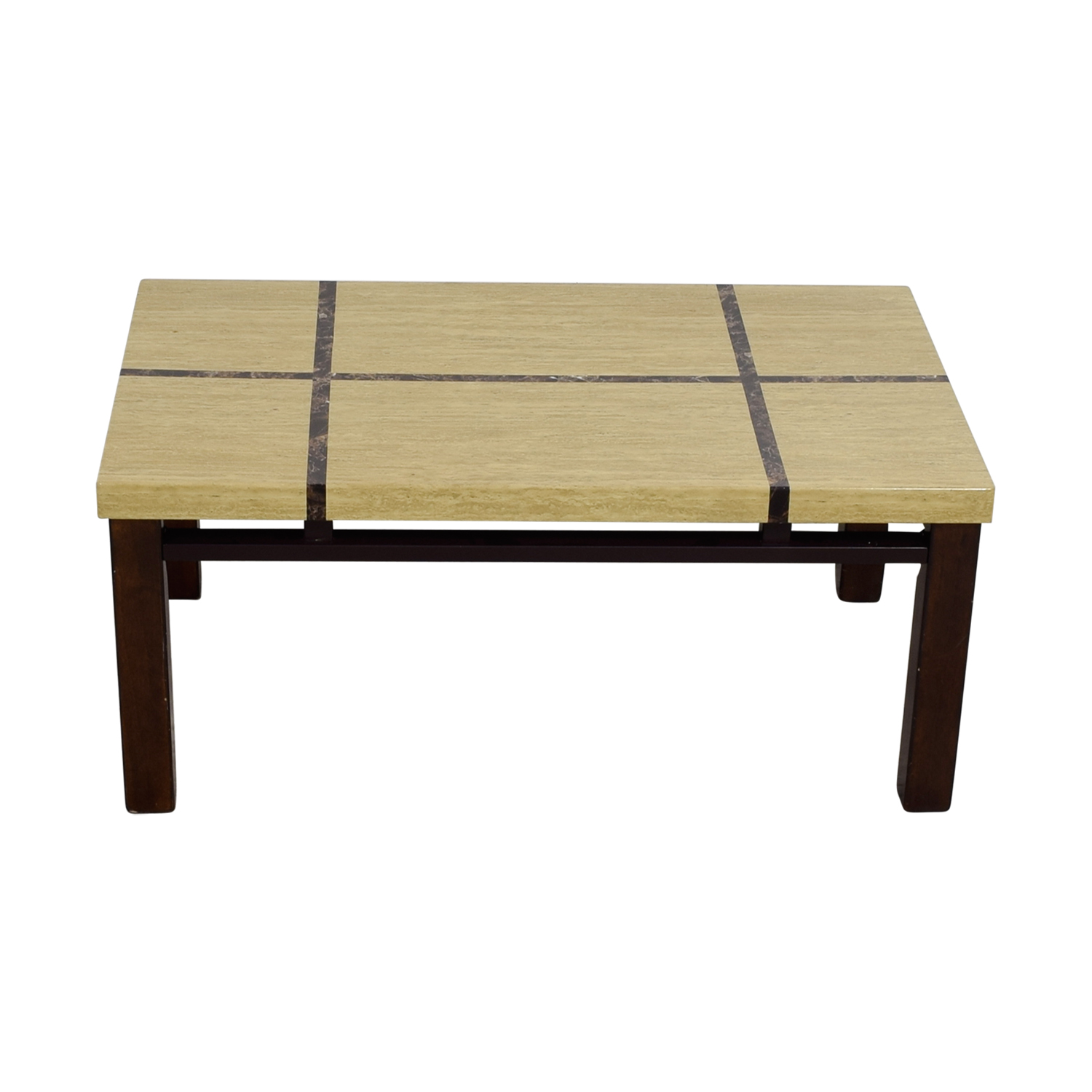 Natural and Dark Wood Coffee Table used