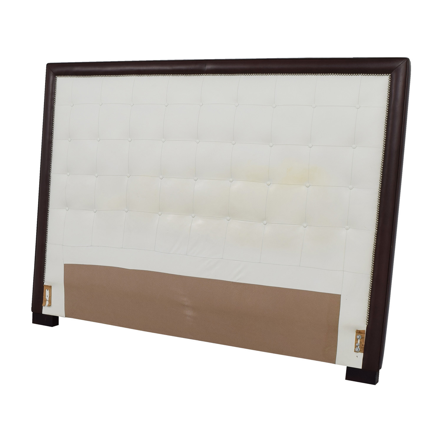pin headboard buttons faux king custom mounted black tufted size upholstered crystal wall leather