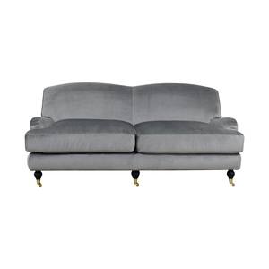 Interior Define Interior Define Rose Metallic Silver Sofa dimensions