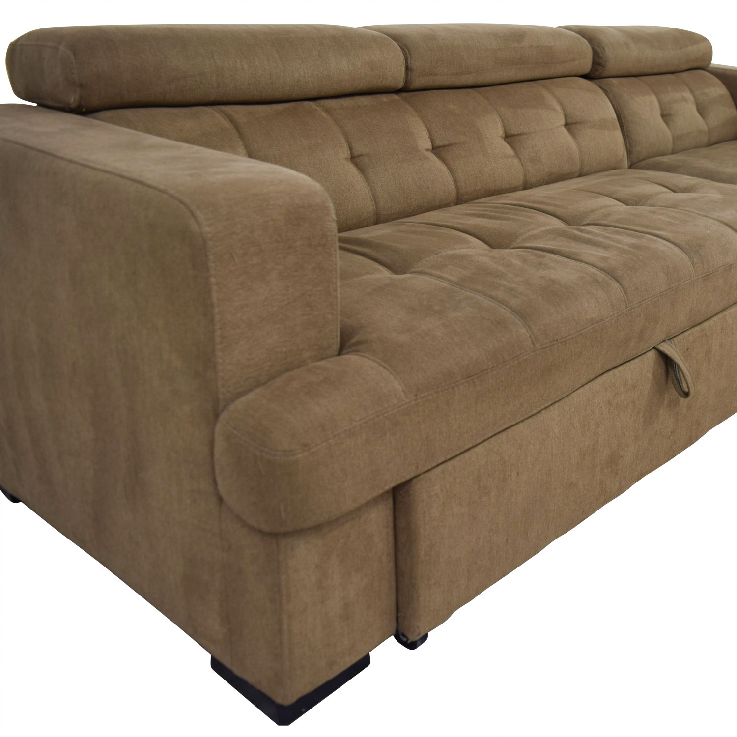Picture of: 40 Off Bob S Discount Furniture Bob S Furniture Brown Pull Out With Chaise Storage Sofas