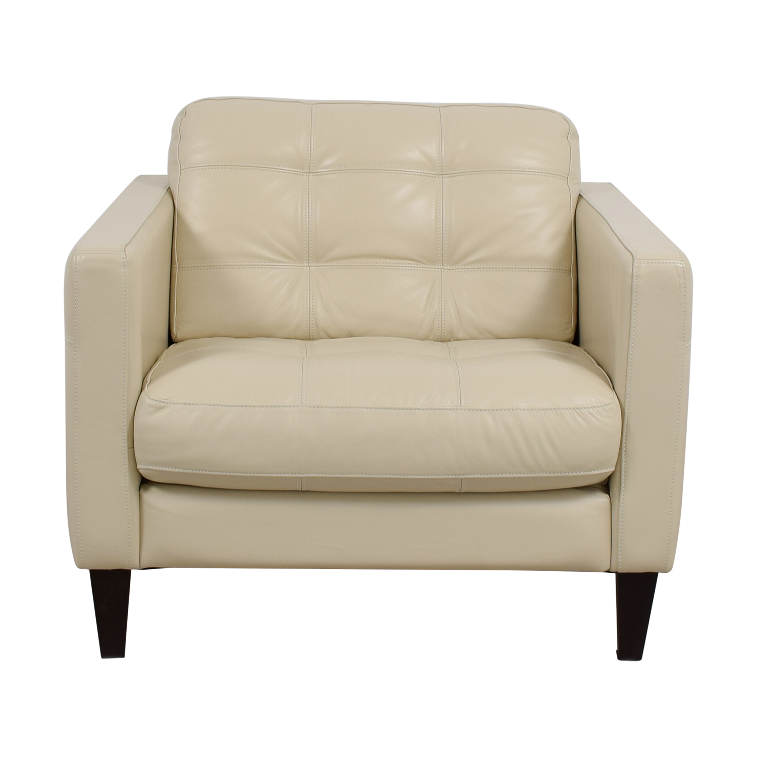48 Off Macy S Macy S Milano White Leather Tufted Accent
