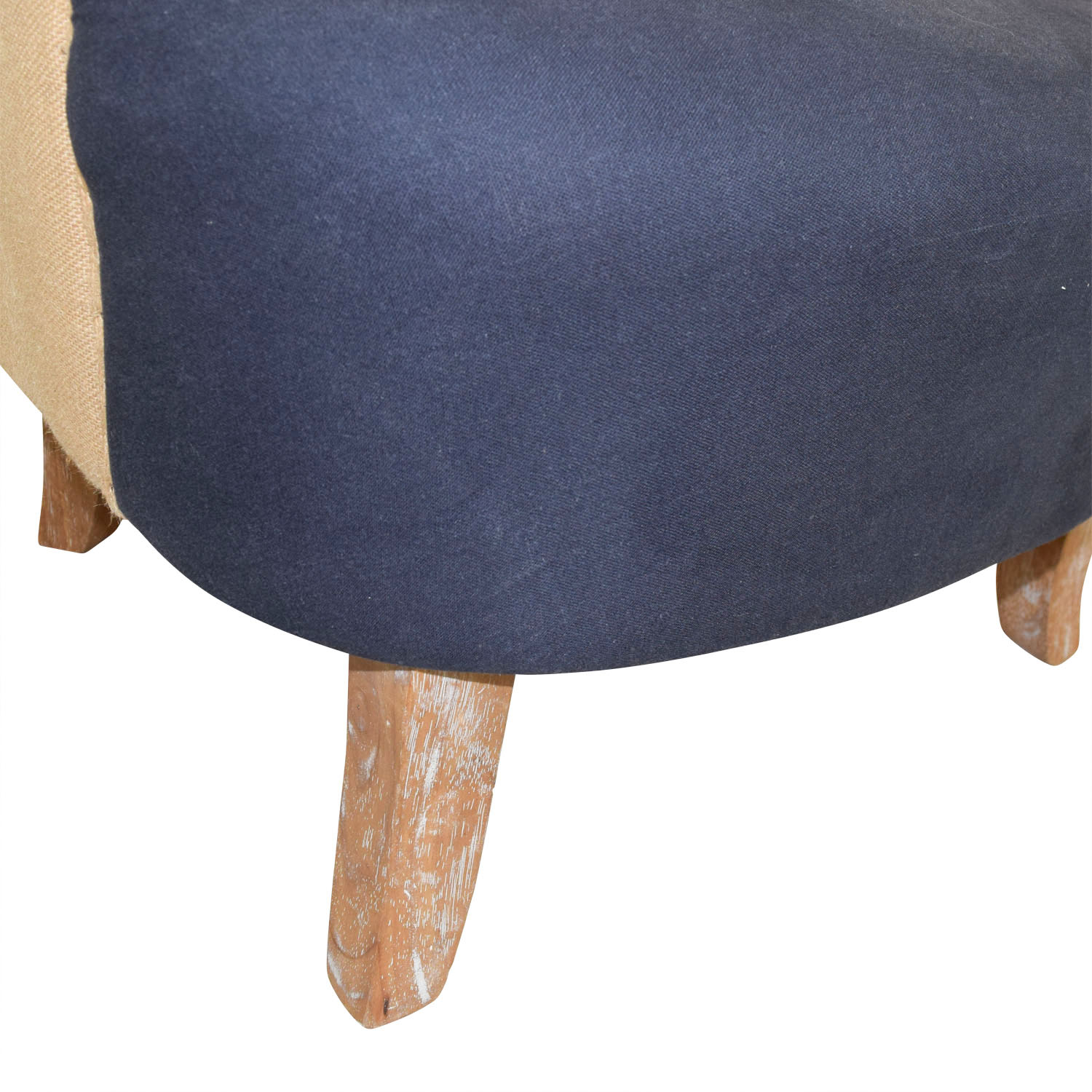 Wondrous 61 Off Pier 1 Pier 1 Imports Blue And Tan Tufted Armchair Chairs Ibusinesslaw Wood Chair Design Ideas Ibusinesslaworg