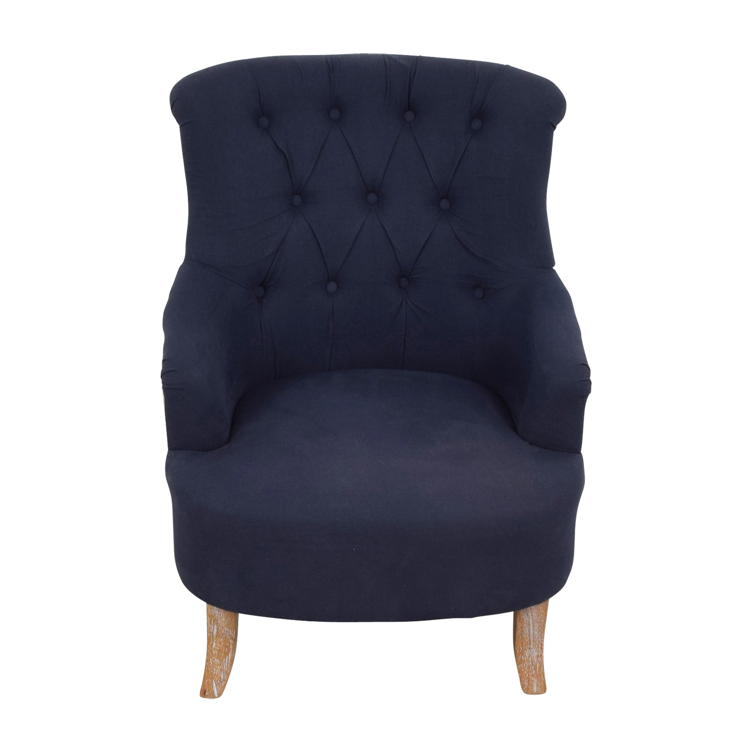 Sensational 61 Off Pier 1 Pier 1 Imports Blue And Tan Tufted Armchair Chairs Ibusinesslaw Wood Chair Design Ideas Ibusinesslaworg
