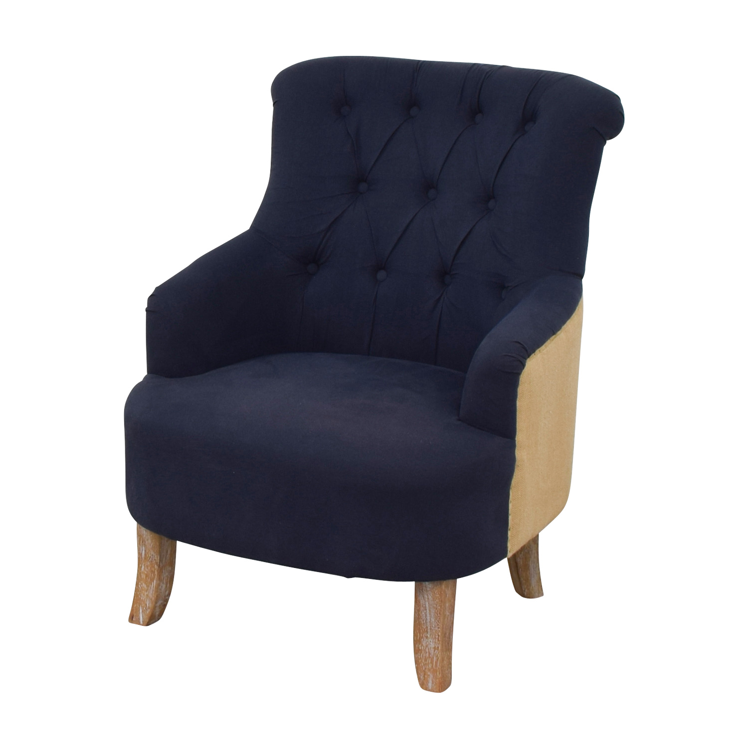 buy Pier 1 Imports Blue and Tan Tufted Armchair Pier 1 Imports Accent Chairs