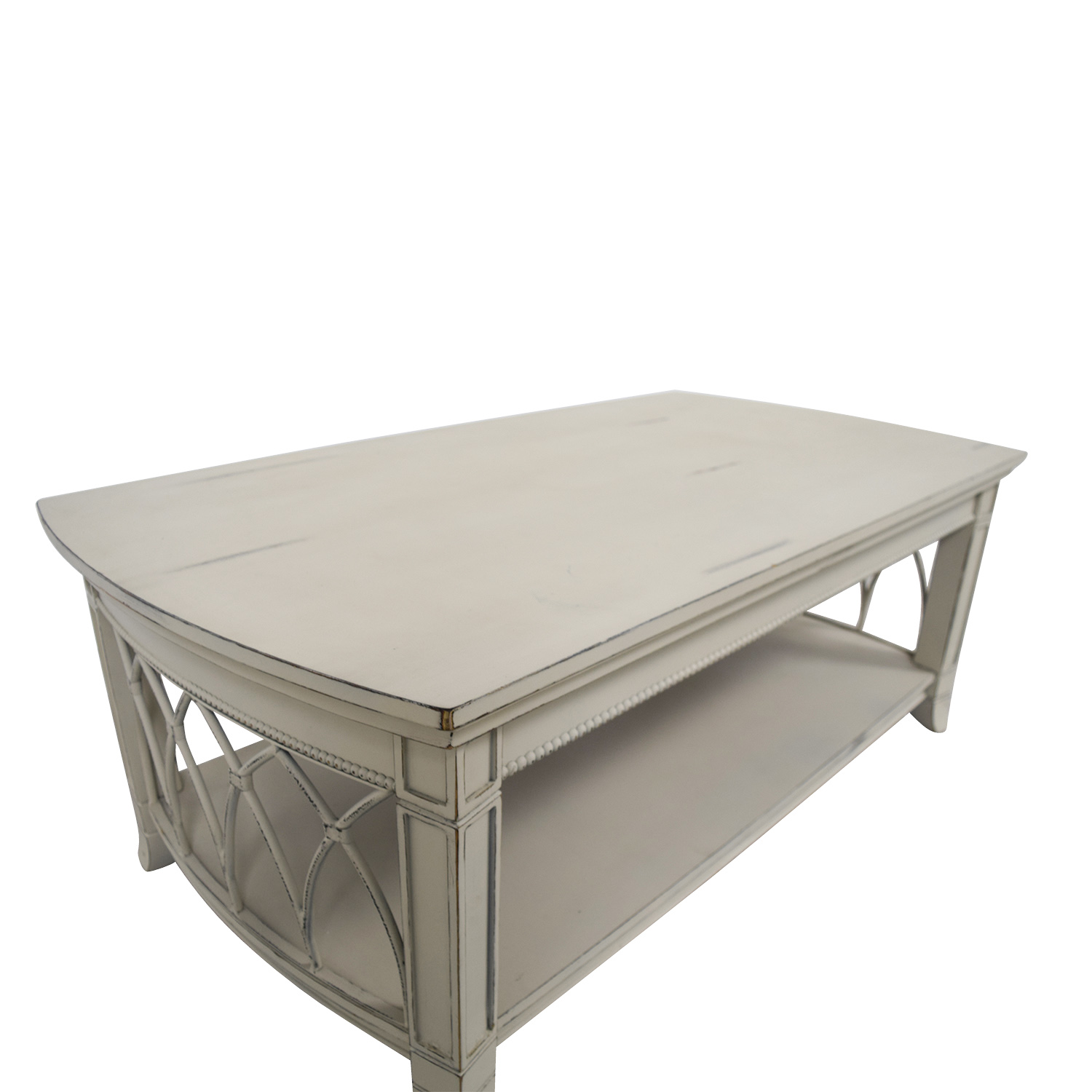 75 Off Custom Off White Distressed Coffee Table Tables