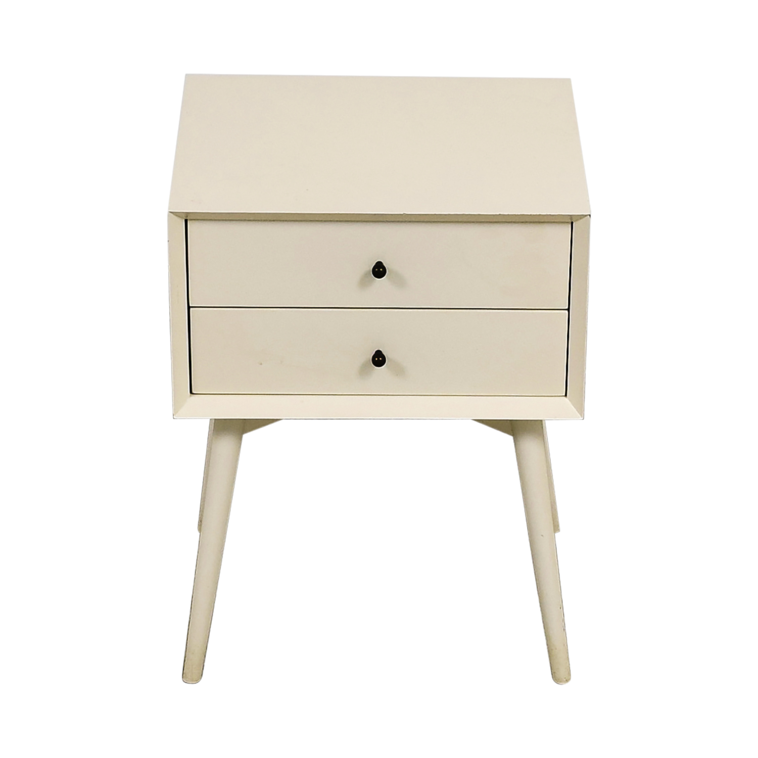 West Elm West Elm White Two-Drawer Night Stand for sale