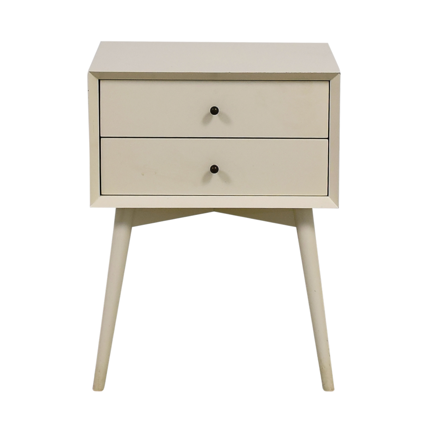 West Elm West Elm White Two-Drawer Night Stand nj