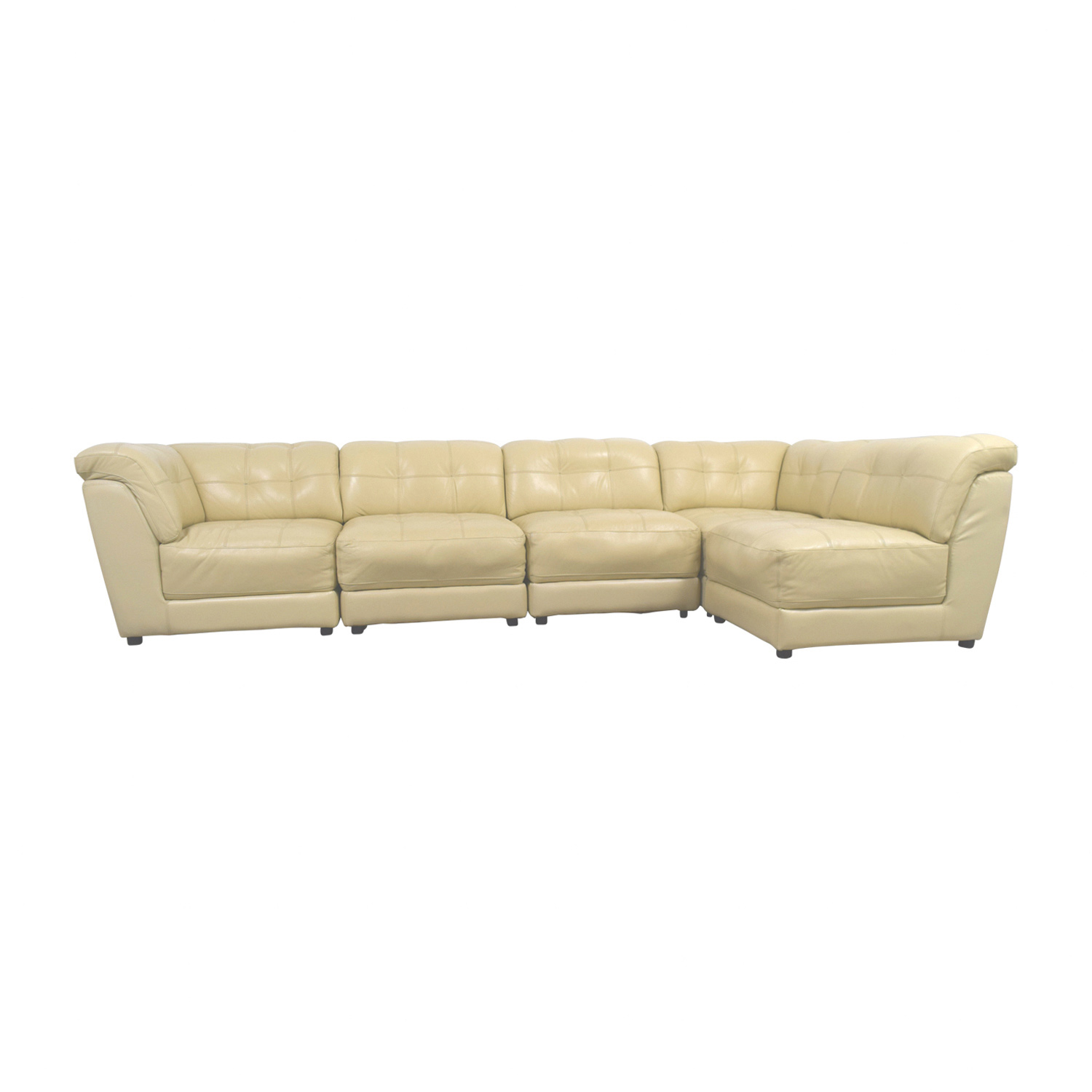 shop Raymour & Flanigan Leather Sectional Raymour & Flanigan Sofas