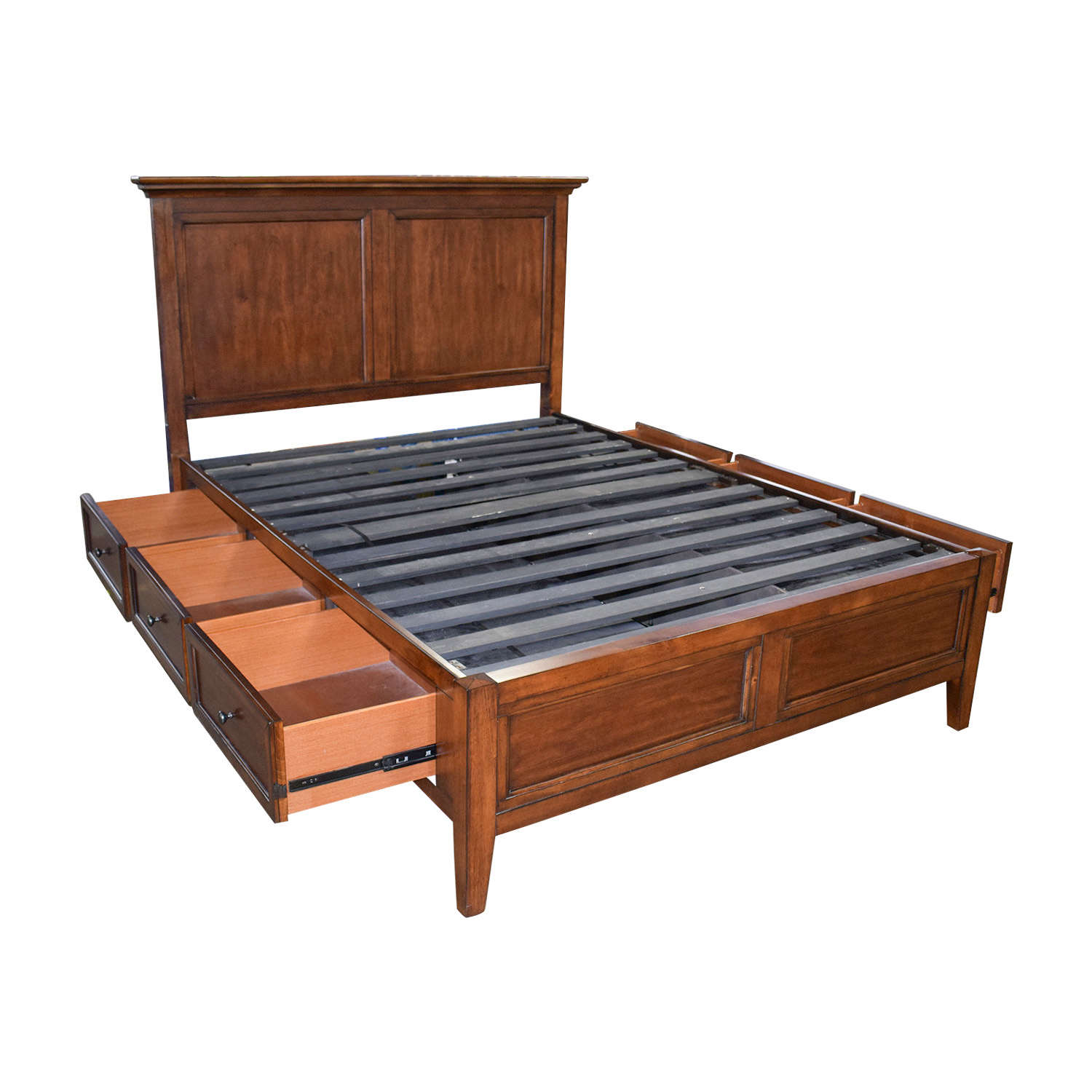 62 off macy s macy s six drawer wood queen bed frame beds 10236 | second hand macys six drawer wood queen bed frame