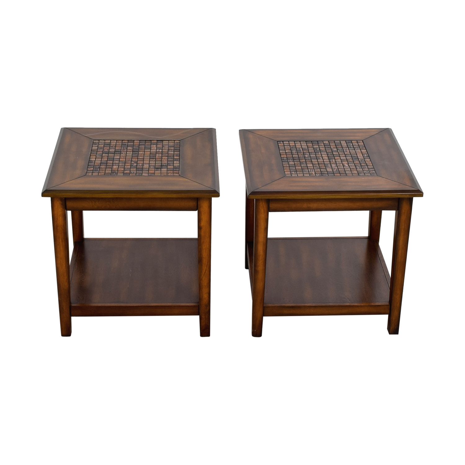 Raymour & Flanigan Raymour & Flanigan Mosaic Wood End Tables for sale