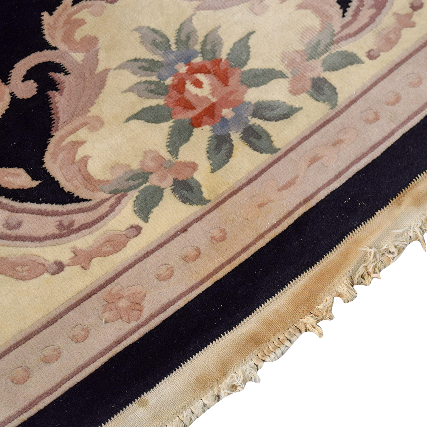 90 Off Black Oriental Multi Colored Floral Rug Decor