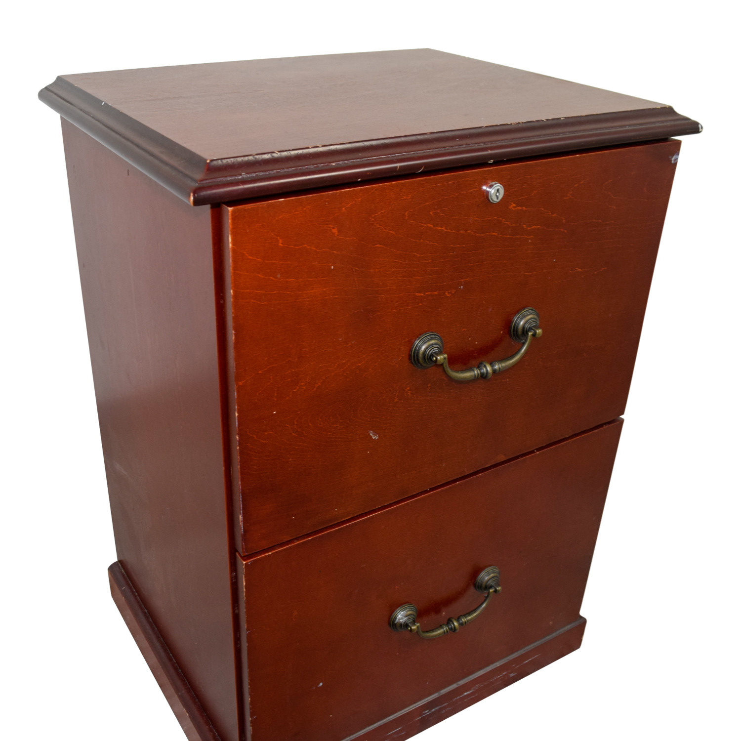 buy Cherry Veneer Two-Drawer Office Cabinet