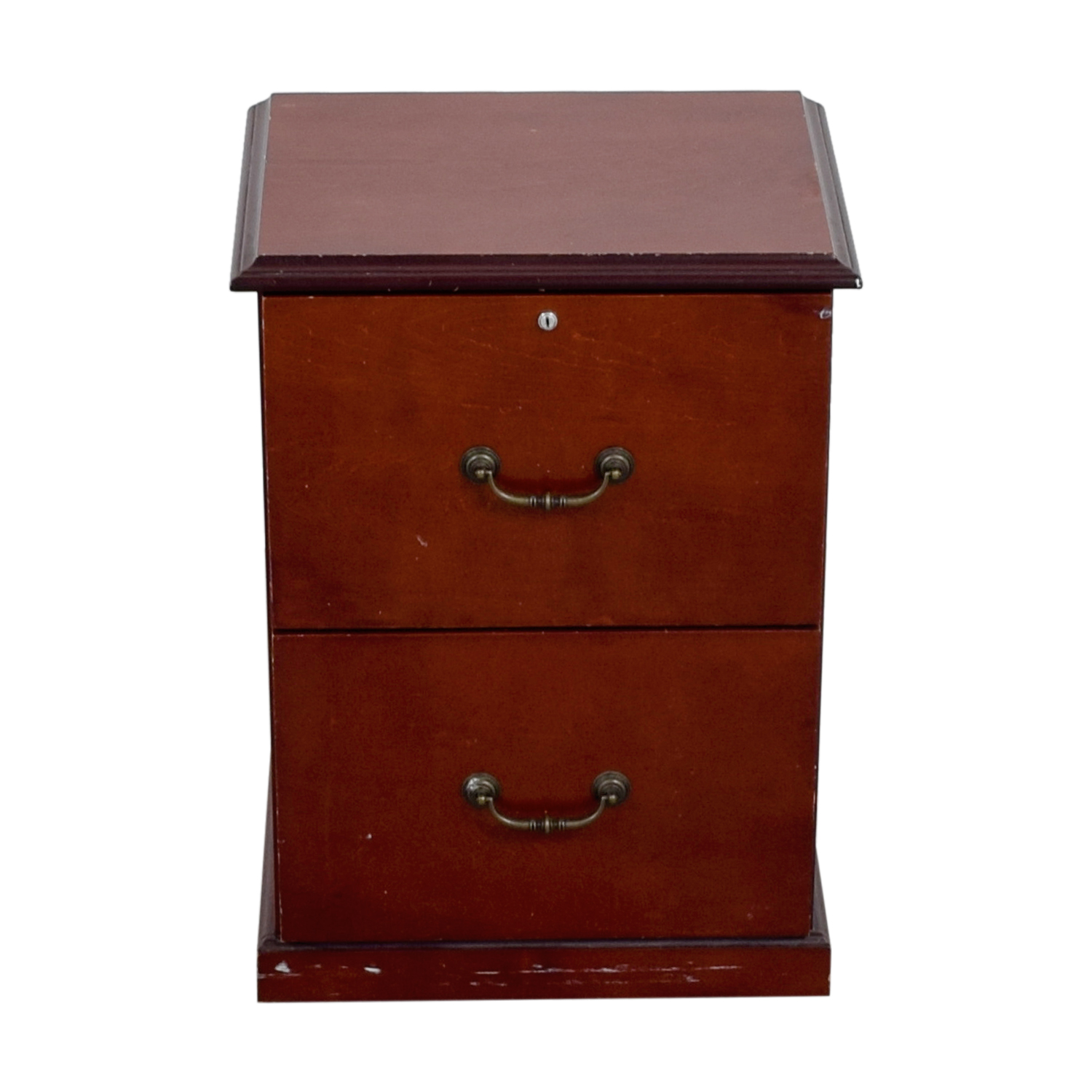 shop Cherry Veneer Two-Drawer Office Cabinet