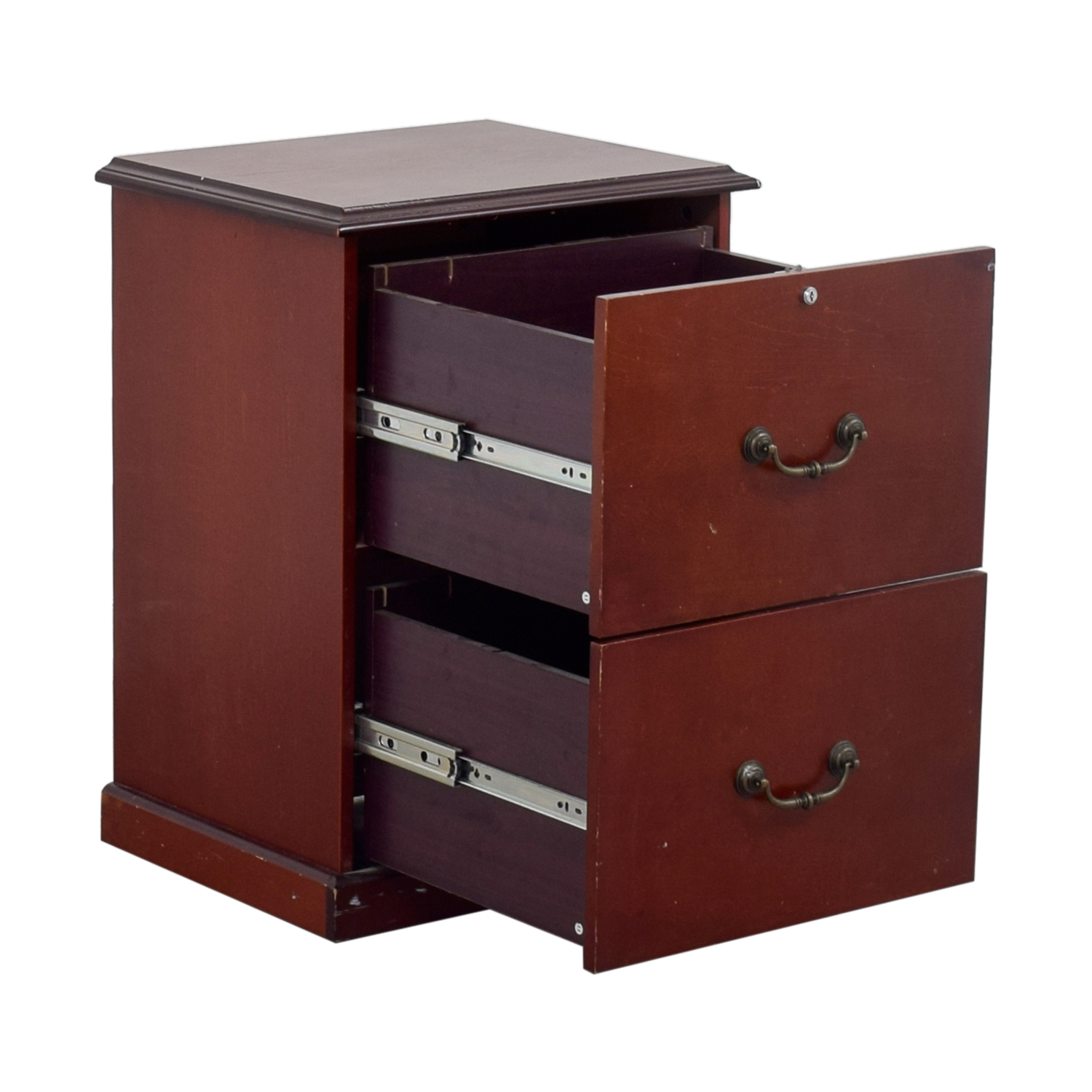 shop Cherry Veneer Two-Drawer Office Cabinet Storage