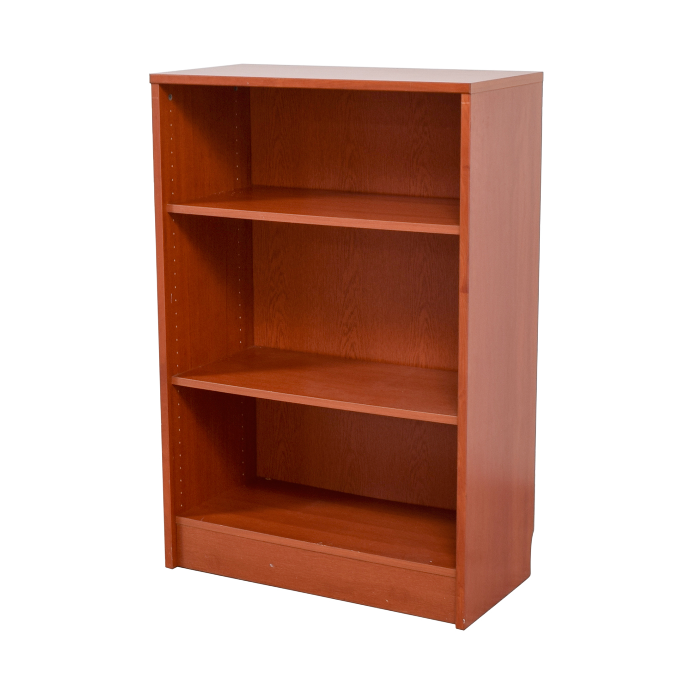 Timber Bookcase: Three -Shelf Wood Bookcase / Storage