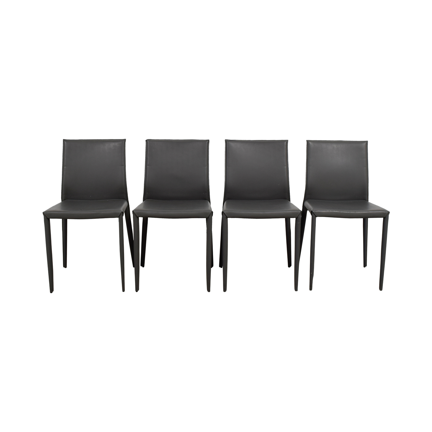 Superieur 75% OFF   Room U0026 Board Room U0026 Board Grey Leather Dining Chairs / Chairs