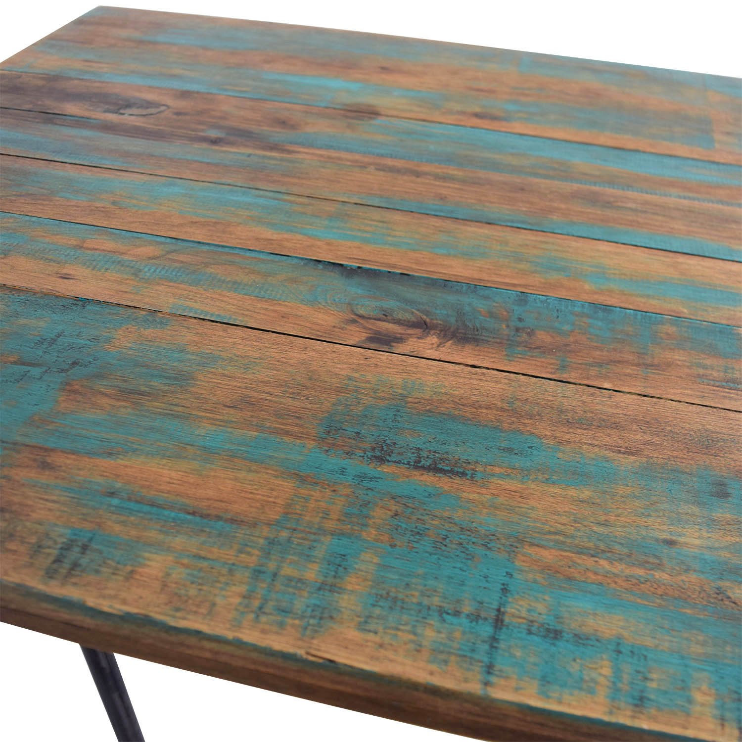 buy A Little of India Industrial Reclaimed Wood Counter Table and Stools A Little of India Dining Sets