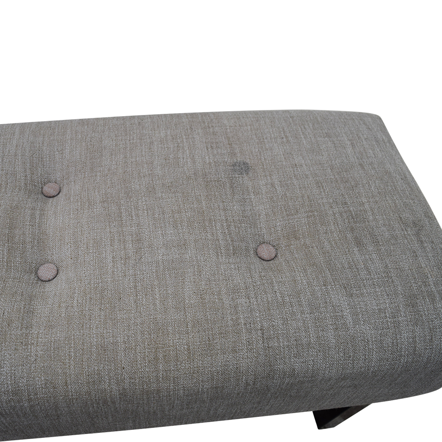 West Elm West Elm Grey Tufted Bench coupon