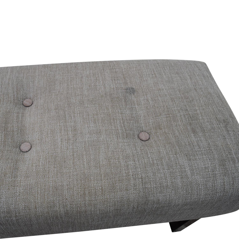Superb 89 Off West Elm West Elm Grey Tufted Bench Chairs Machost Co Dining Chair Design Ideas Machostcouk