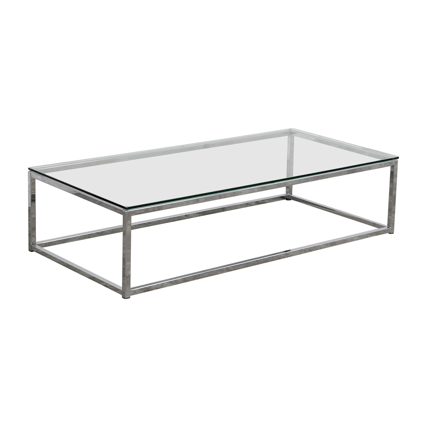 OFF CB CB Glass And Chrome Coffee Table Tables - Cb2 glass coffee table