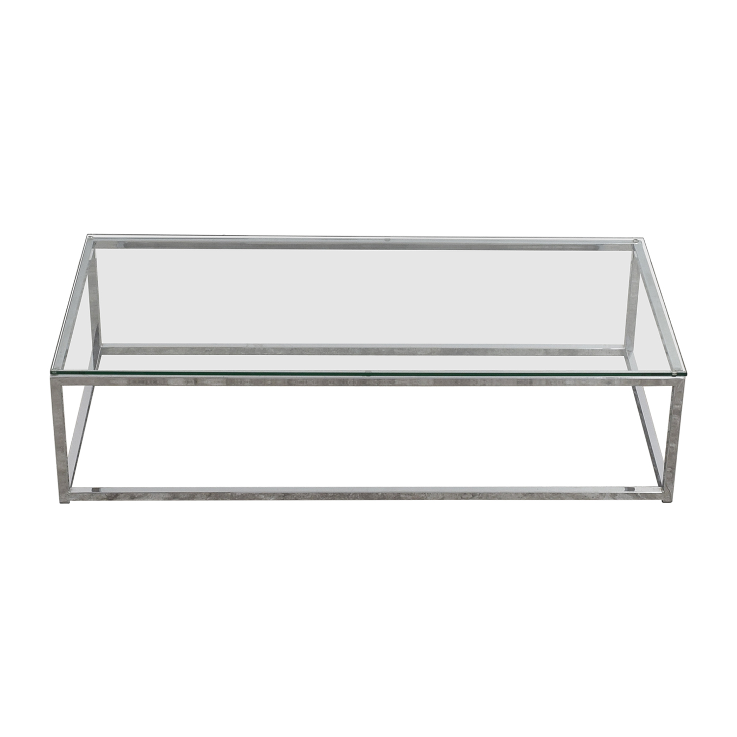shop CB2 Glass and Chrome Coffee Table CB2