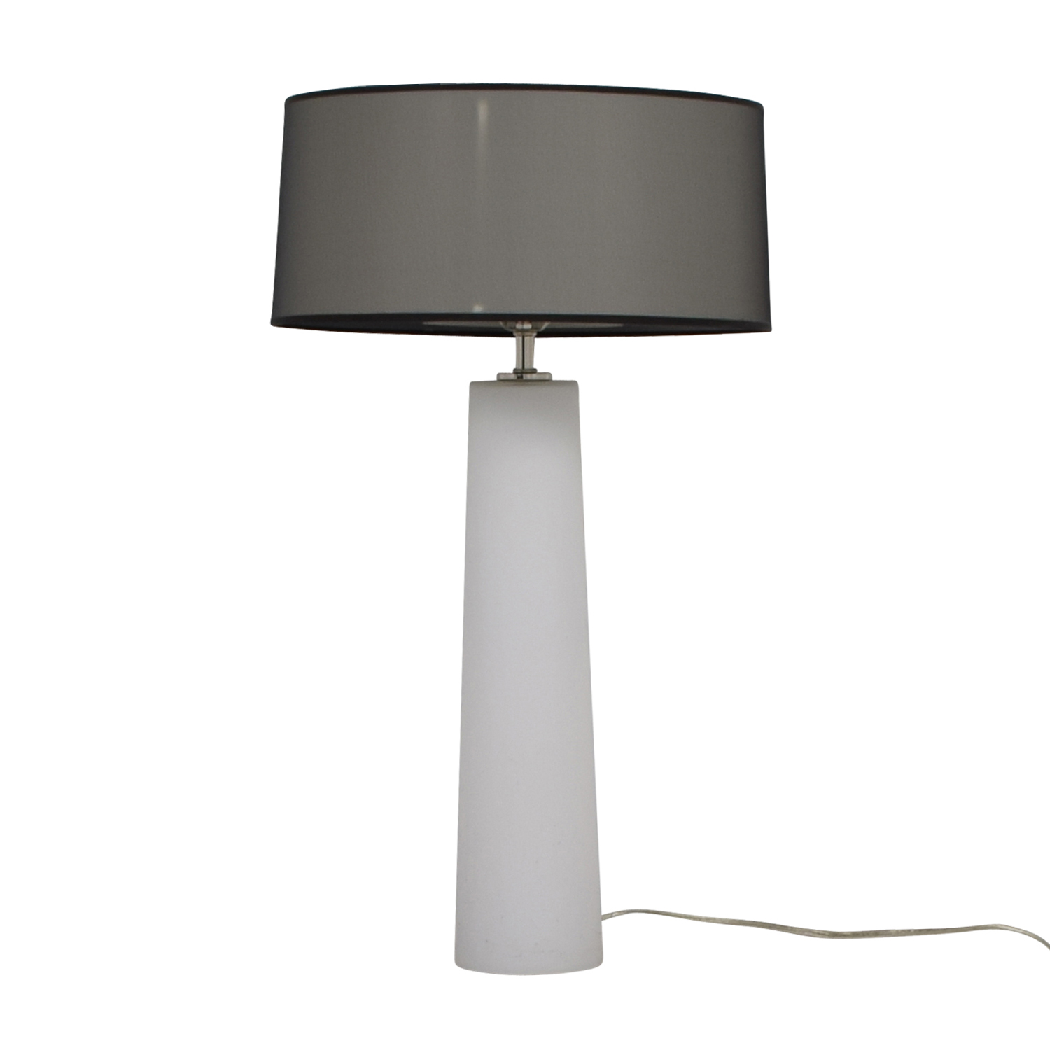 buy White Bedside Lamp With Base and Top Lighting