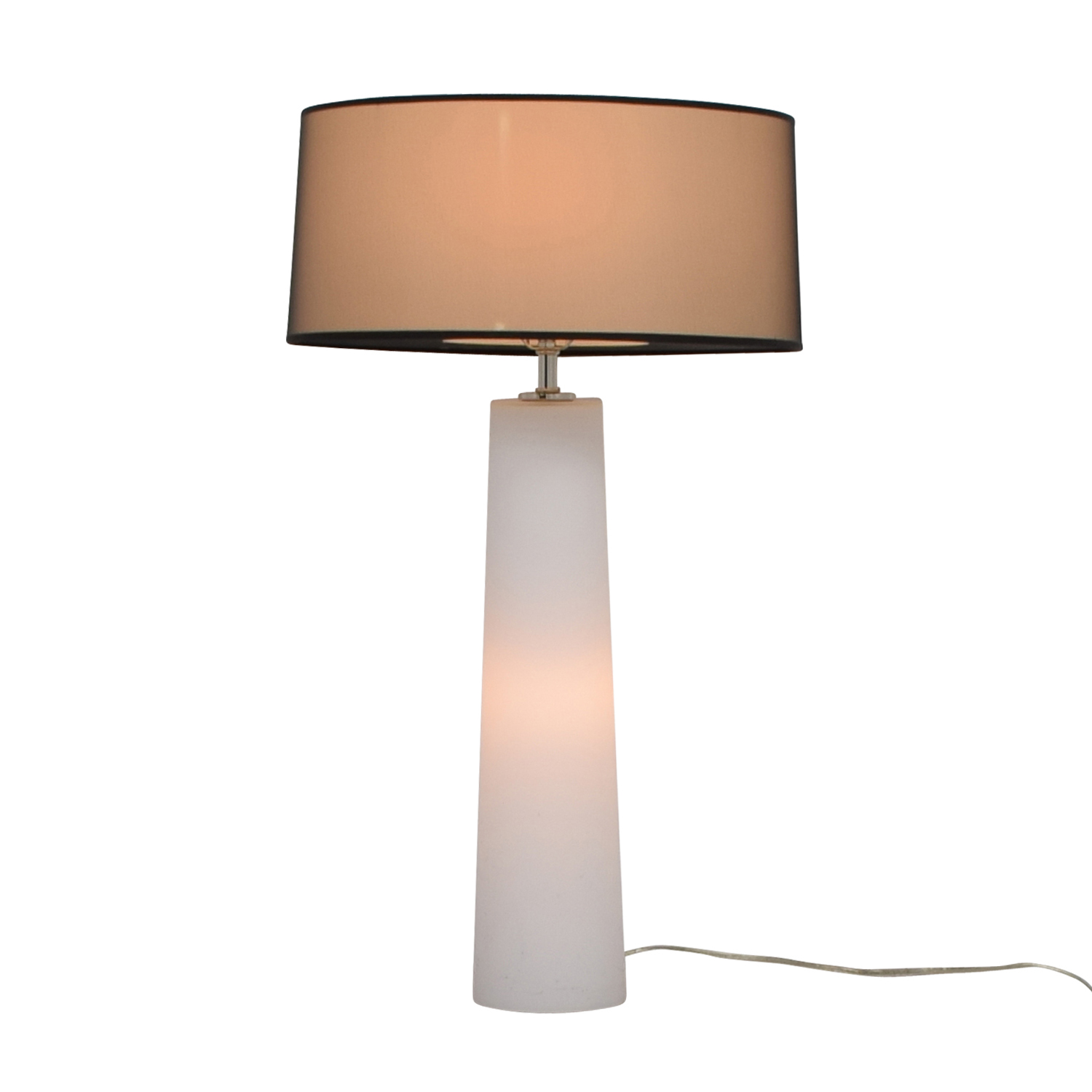 White Bedside Lamp With Base and Top Lighting price