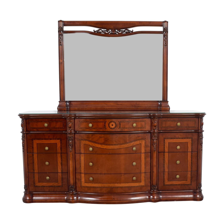 90 Off R Furniture Drew Twelve Drawer Dresser With Mirror And