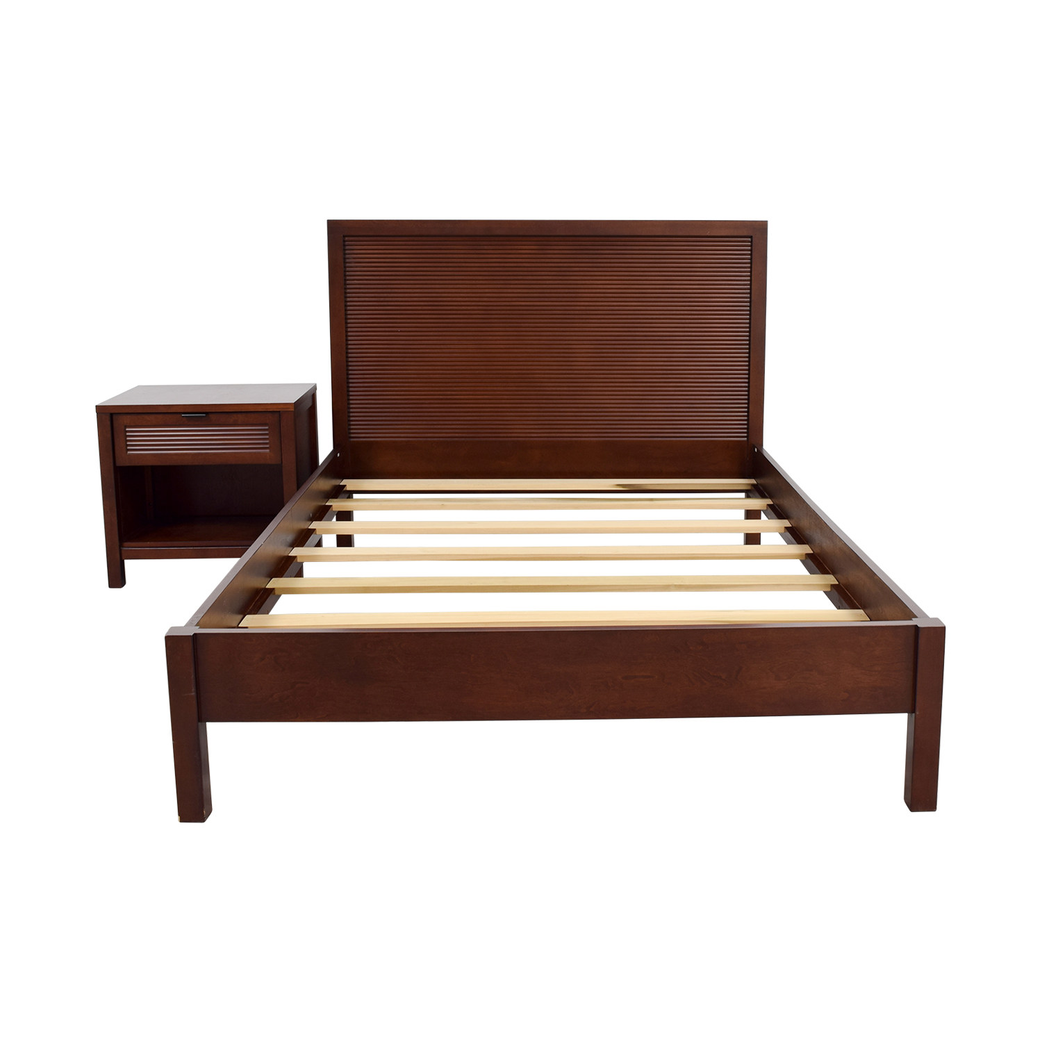 Crate & Barrel Crate & Barrel Full Platform Bed and Night Stand price