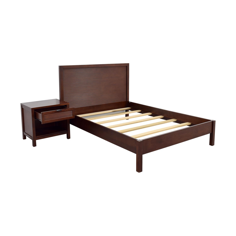 full platform bed. Buy Crate \u0026 Barrel Full Platform Bed And Night Stand T