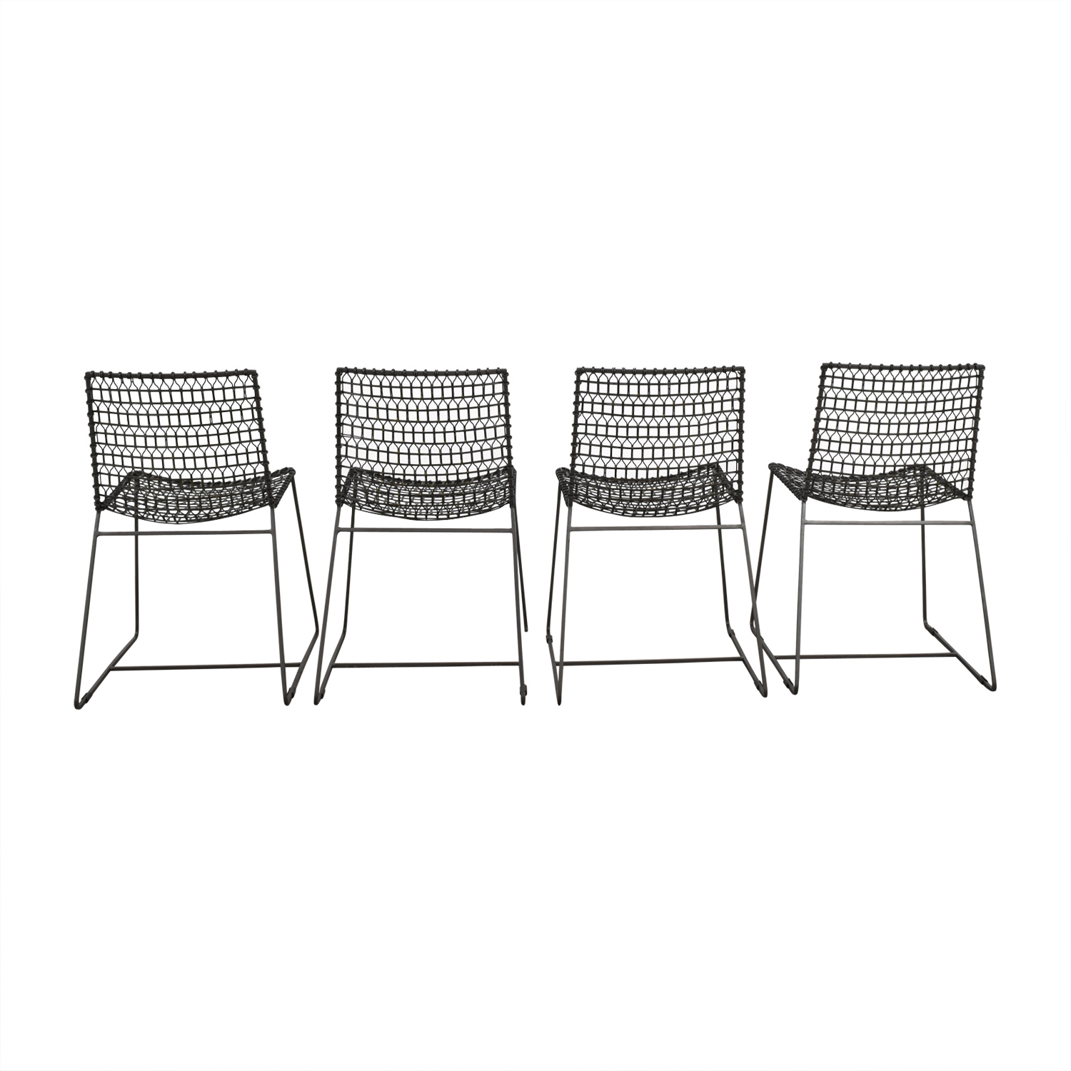 Crate & Barrel Crate & Barrel Metal Chairs GREY/METAL