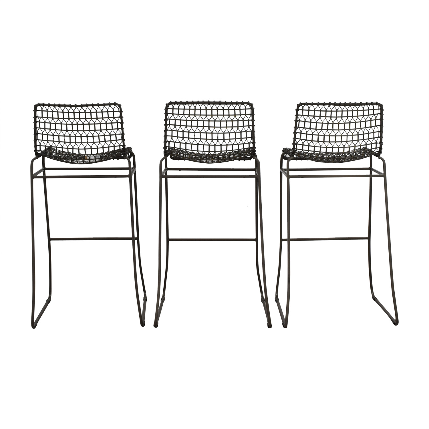 Crate & Barrel Crate & Barrel Metal Bar Stools nj