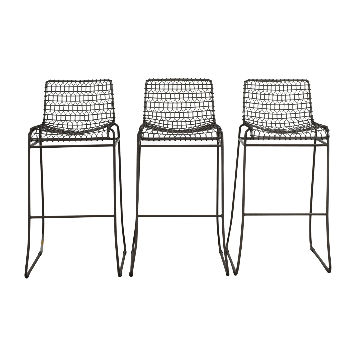 shop Crate & Barrel Metal Bar Stools Crate & Barrel Stools