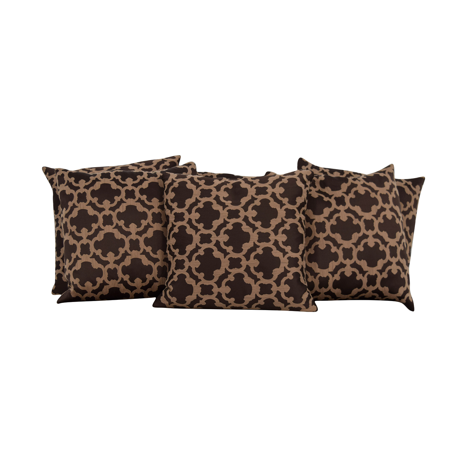 Macys Macys Brown and Beige Throw Pillows for sale
