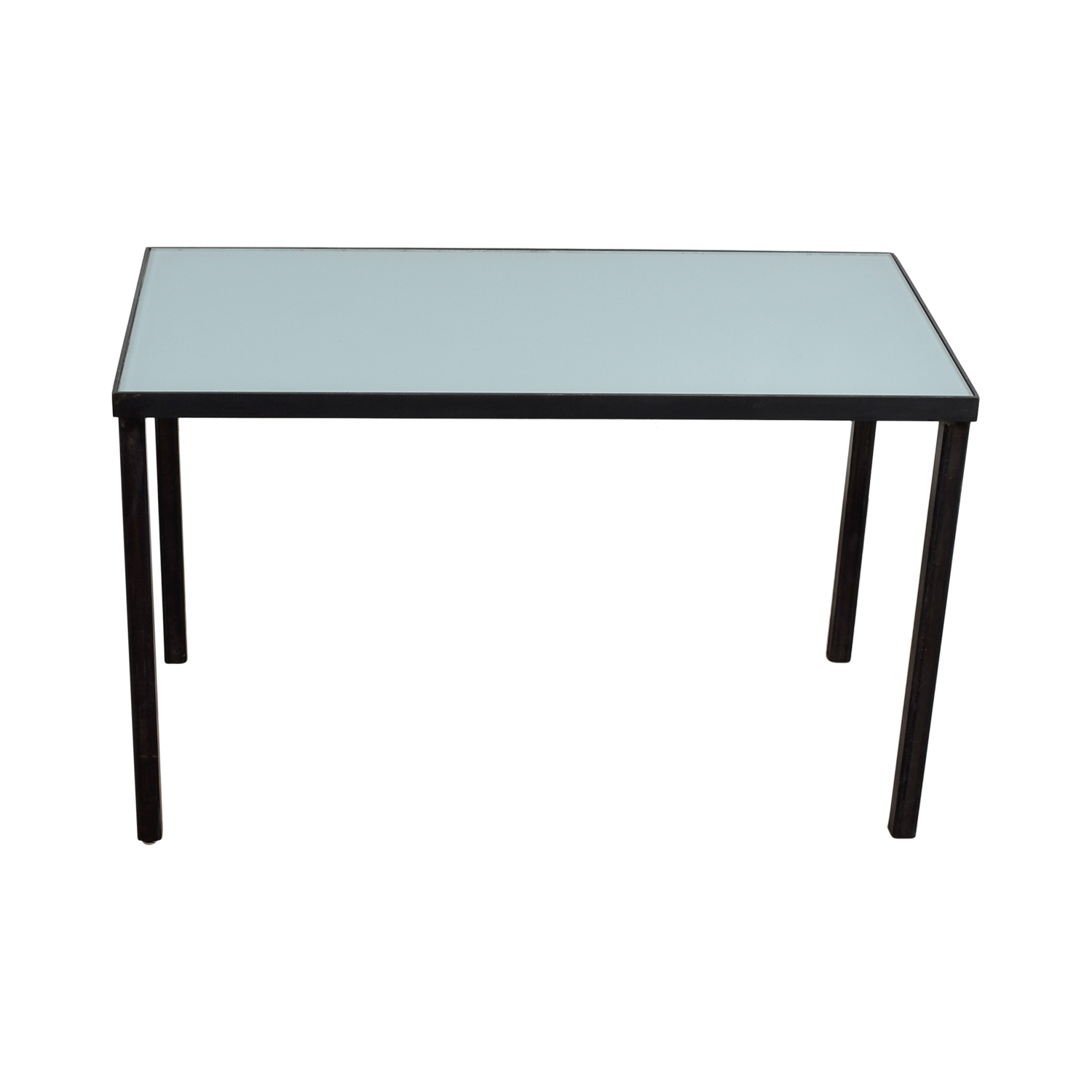 West Elm West Elm Glass and Metal Desk Table on sale
