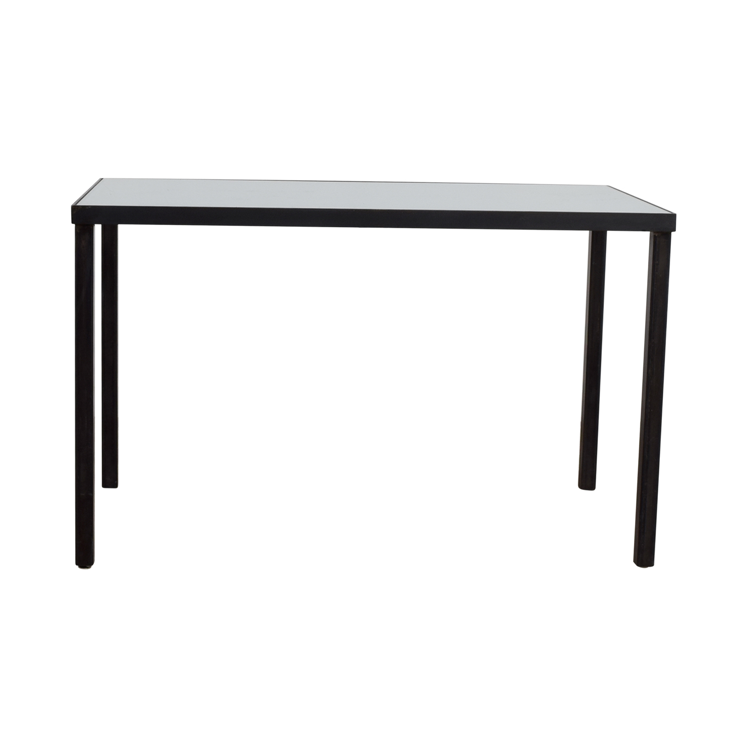 huge discount 877af 0e3ba 82% OFF - West Elm West Elm Glass and Metal Desk Table / Tables