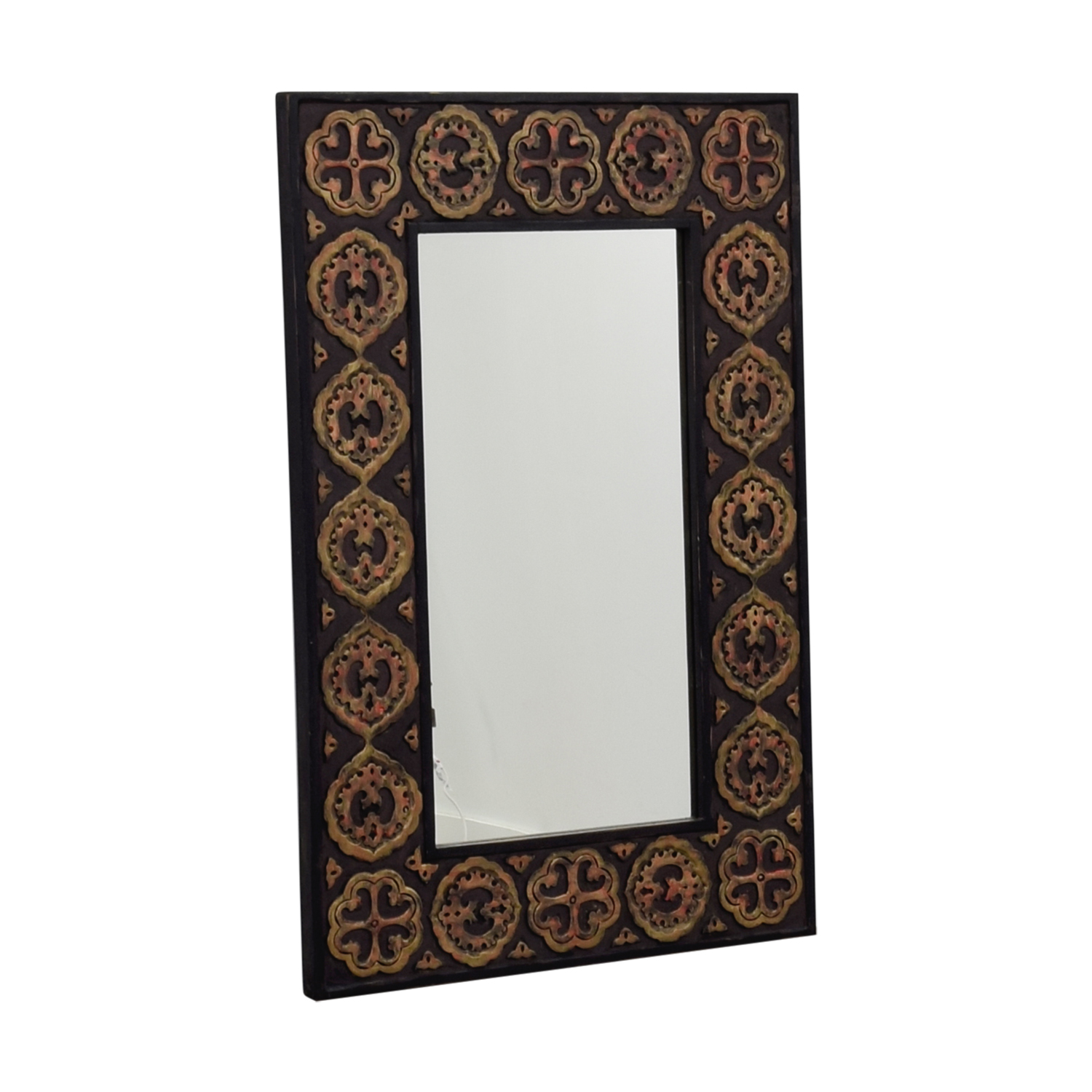 Pier 1 Imports Pier One Imports Mirror With Rustic Gold Emblemed Frame Mahogany