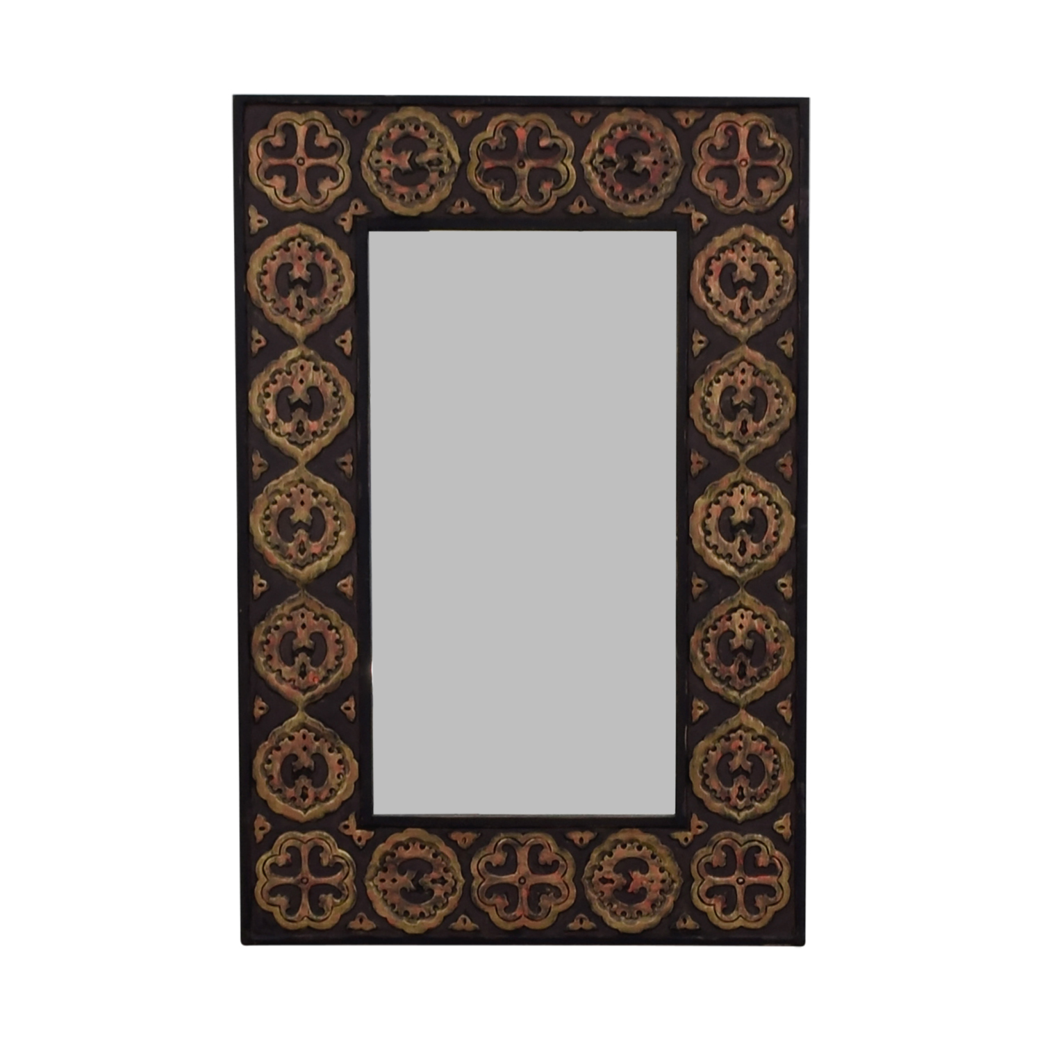 buy Pier 1 Imports Pier One Imports Mirror With Rustic Gold Emblemed Frame online