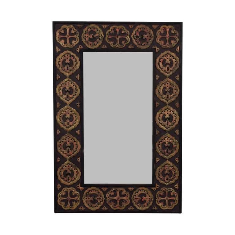 Pier 1 Imports Pier One Imports Mirror With Rustic Gold Emblemed Frame dimensions