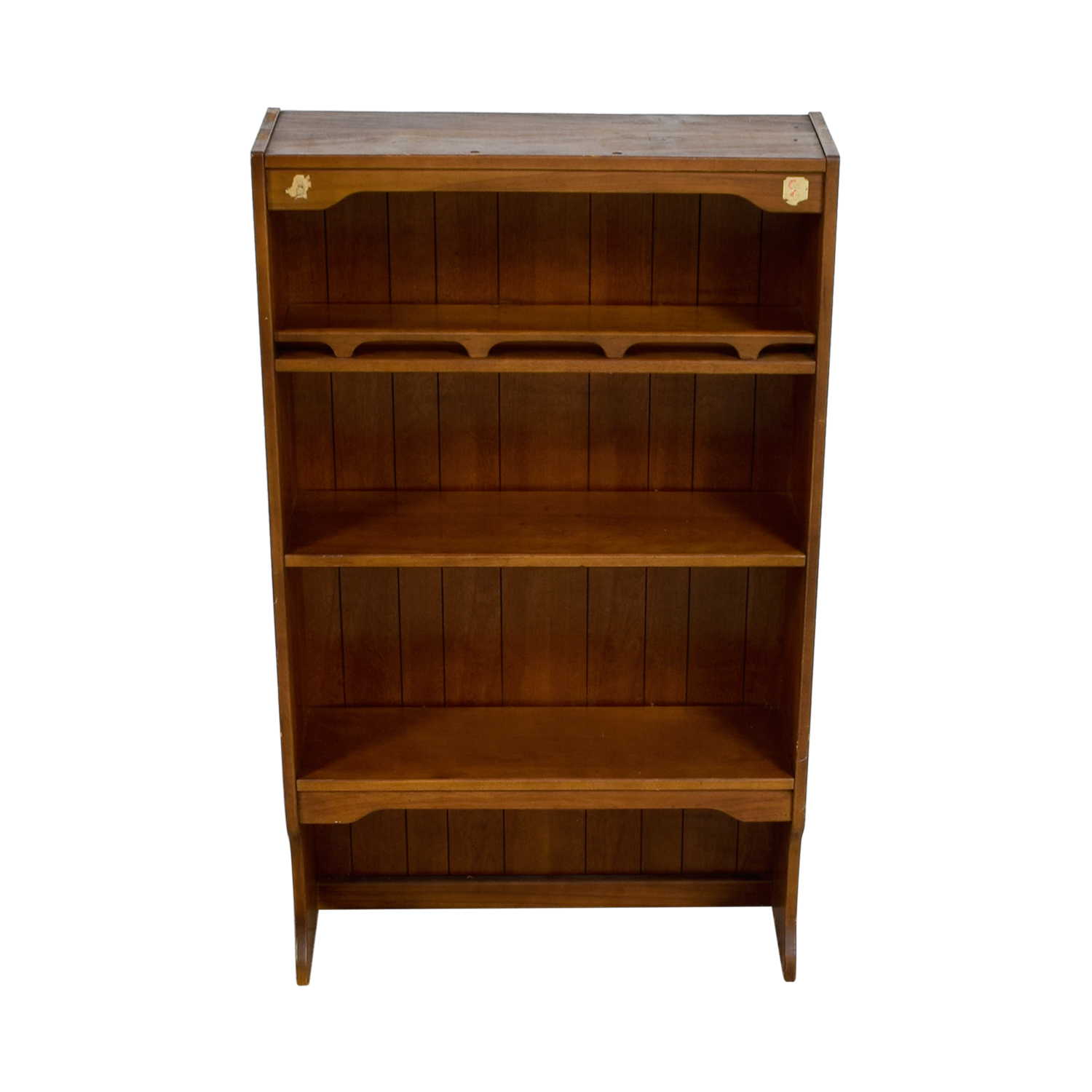 Three Shelf Wood Bookcase / Bookcases & Shelving