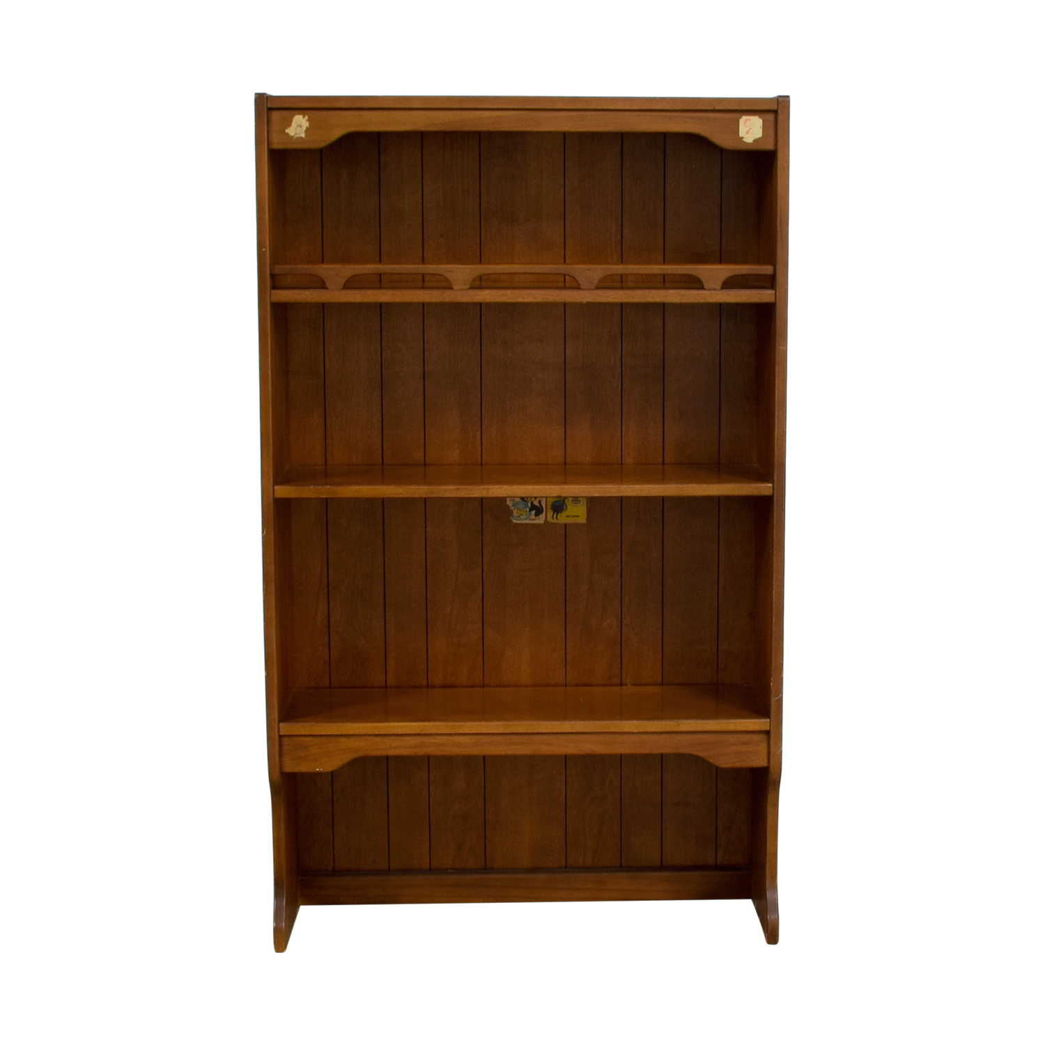 Three Shelf Wood Bookcase nyc
