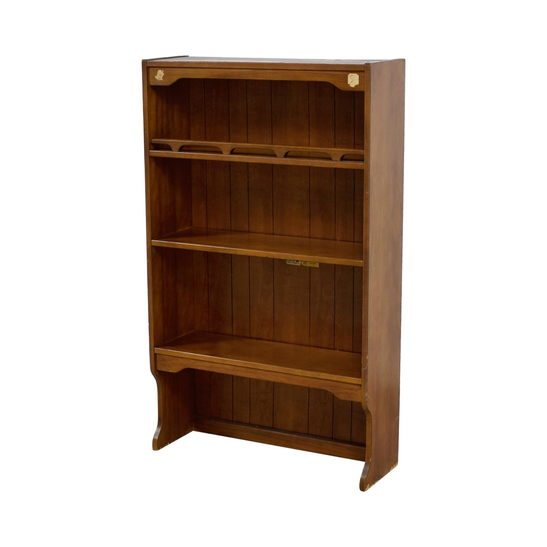 Used Wood Bookcases ~ Off three shelf wood bookcase storage