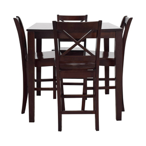 Bar Height Wood Dining Set used