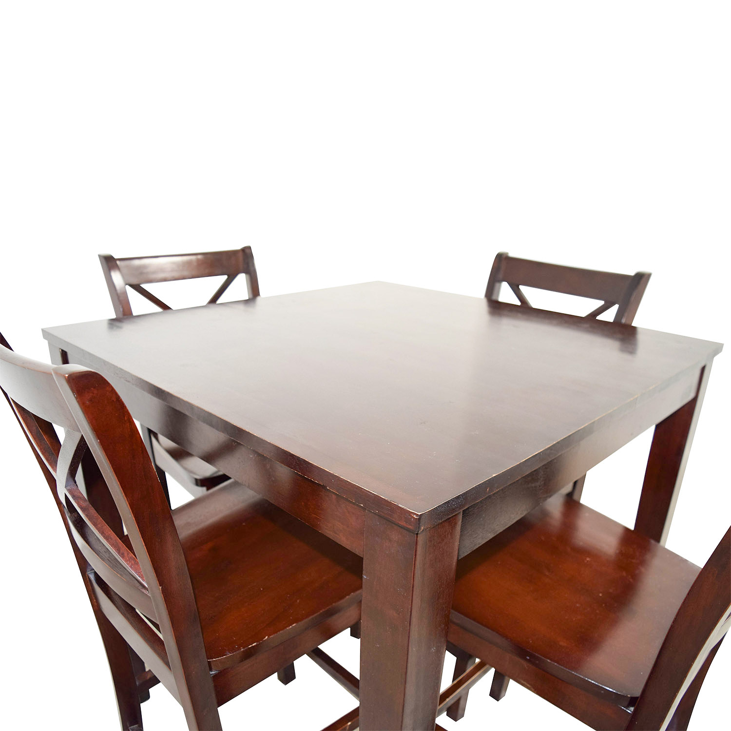 54 Off Bar Height Wood Dining Set Tables