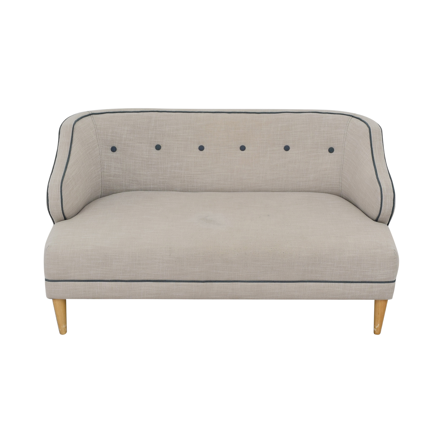 West Elm West Elm Custom Beige Upholstered Captain Loveseat used