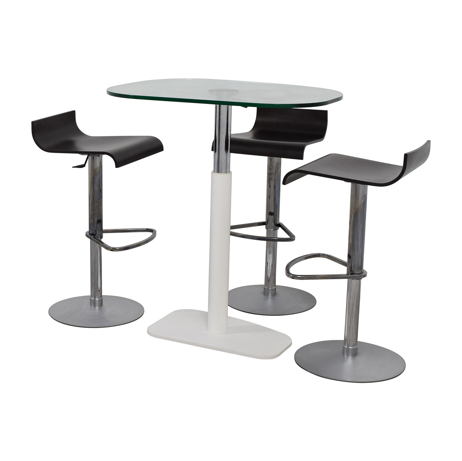 Ligne Roset Ligne Roset Adjustable Counter Height Table and Bar Stools dimensions
