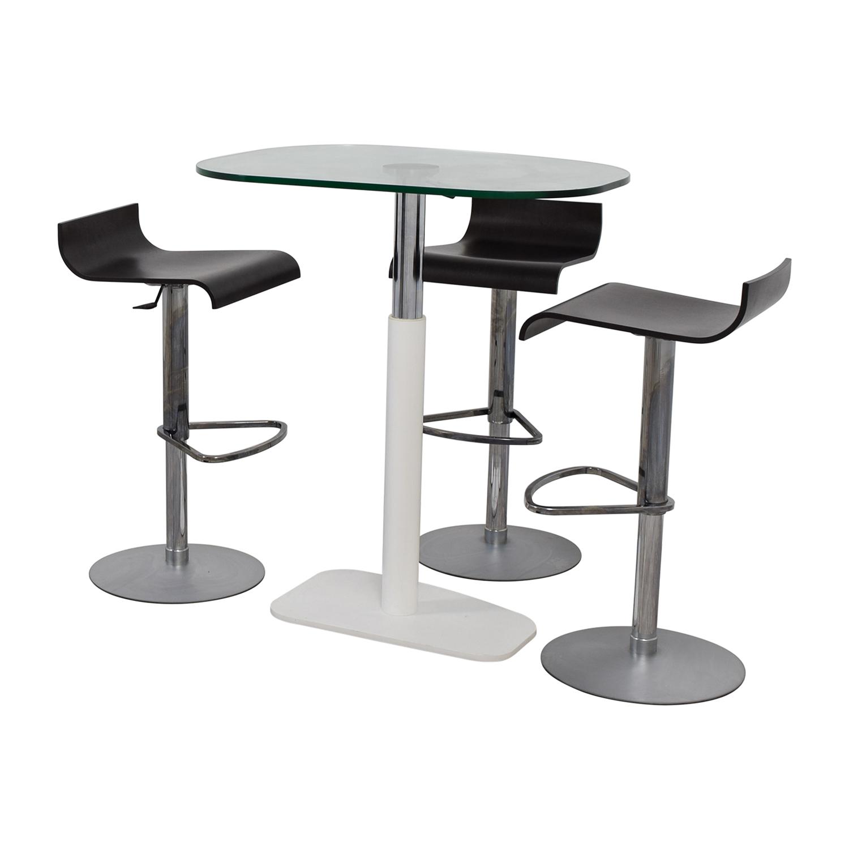 87 off ligne roset ligne roset adjustable counter height table and bar stools tables. Black Bedroom Furniture Sets. Home Design Ideas