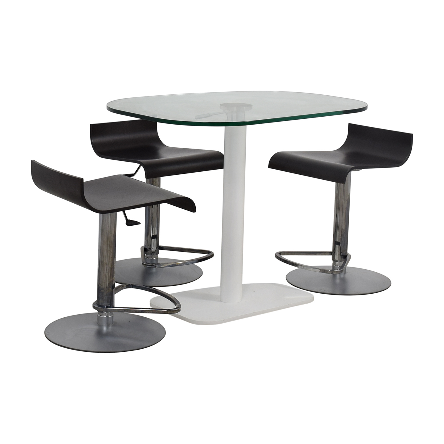 Ligne Roset Adjustable Counter Height Table and Bar Stools sale