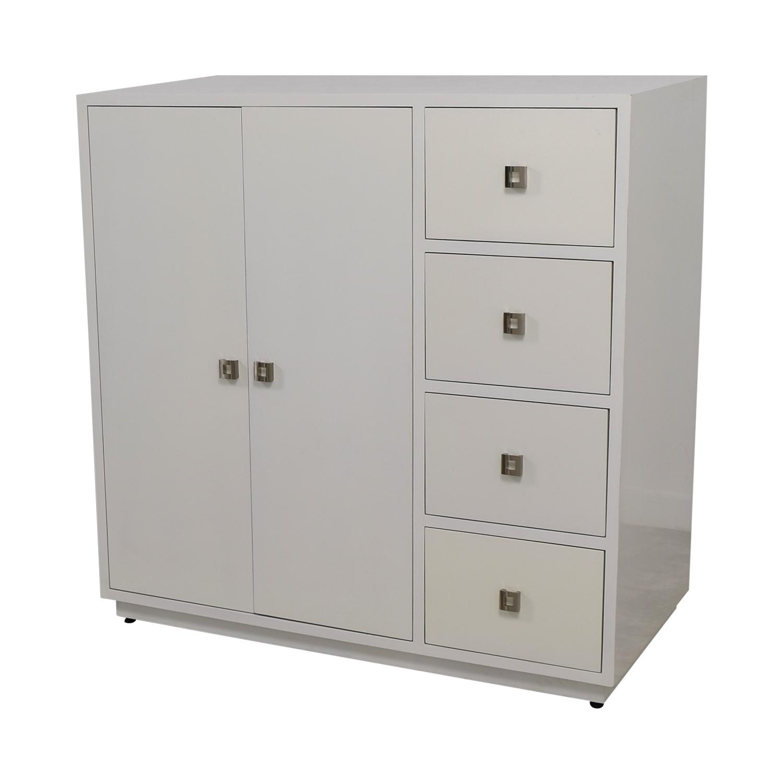 ... Storage; Shop Custom White Lacquer Cabinet Online ...